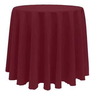 Attractive Vibrant Solid Color 90 Inch Round Tablecloth