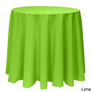 Solid Color 90-inch Round Vibrant Color Tablecloth - 90 (More options available)