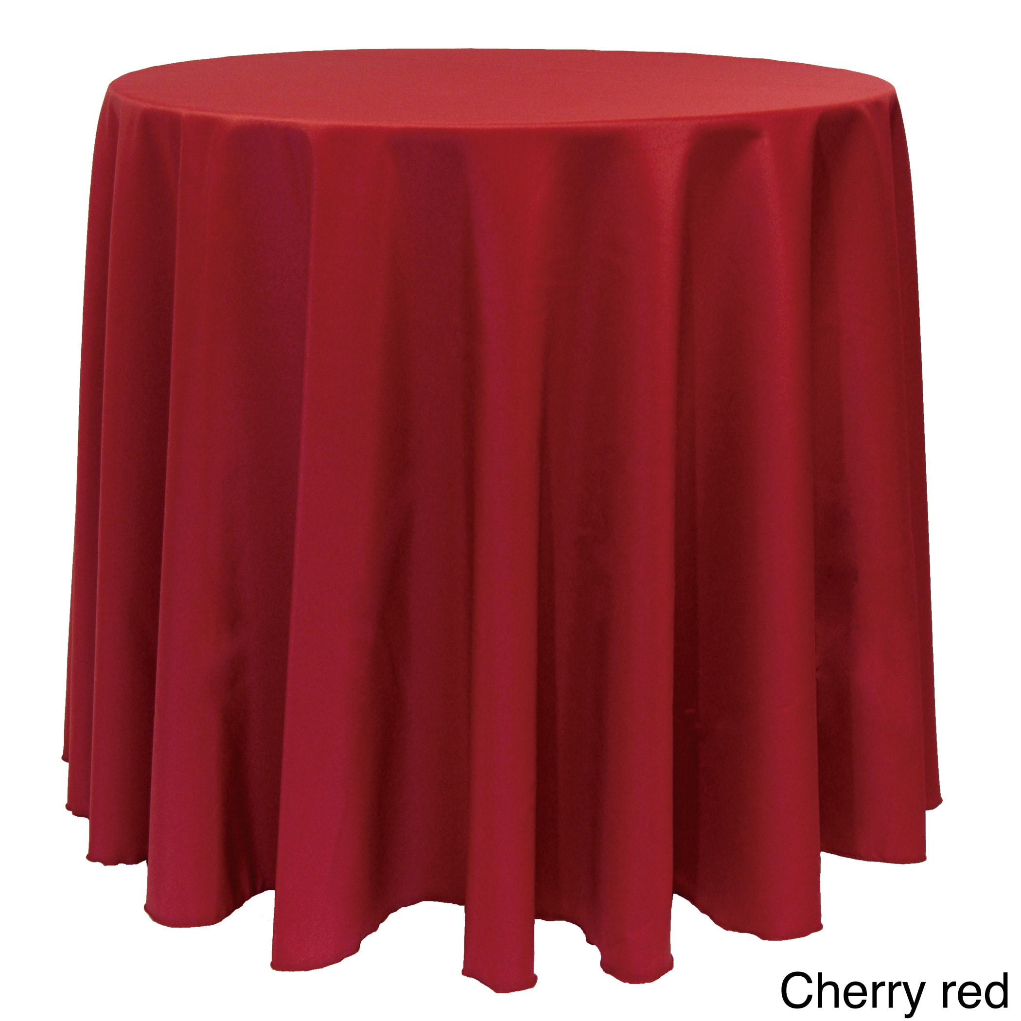 Solid Color 90 Inch Round Tablecloth
