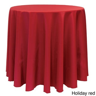 Solid Color 90-inches Round Vibrant Color Tablecloth