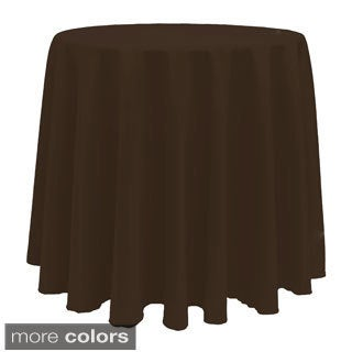 Solid Color 90-inches Round Vibrant Tablecloth