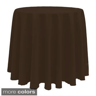 Solid Color 90 Inch Round Vibrant Tablecloth (Option: Orange)
