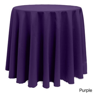 Solid Color 90-inch Round Vibrant Tablecloth (4 options available)