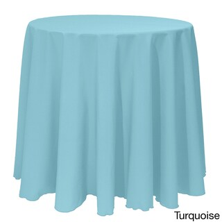 Solid Color 90-inch Round Vibrant Tablecloth (More options available)