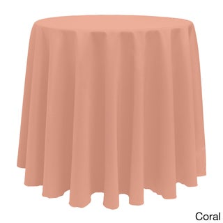 Vibrant Solid Color 90-Inch Round Tablecloth (Option: Coral)