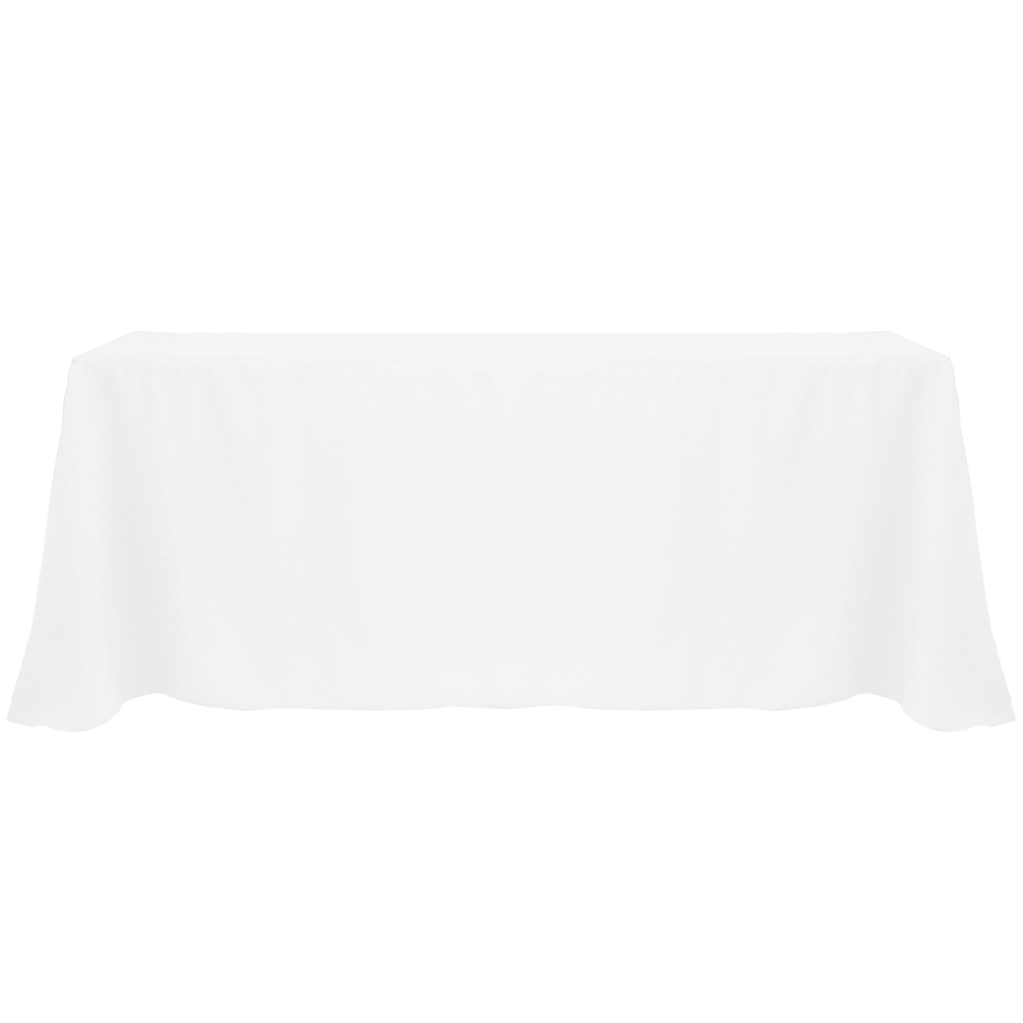 Solid Color 90x132-inch Vibrant Oval Tablecloth (White)