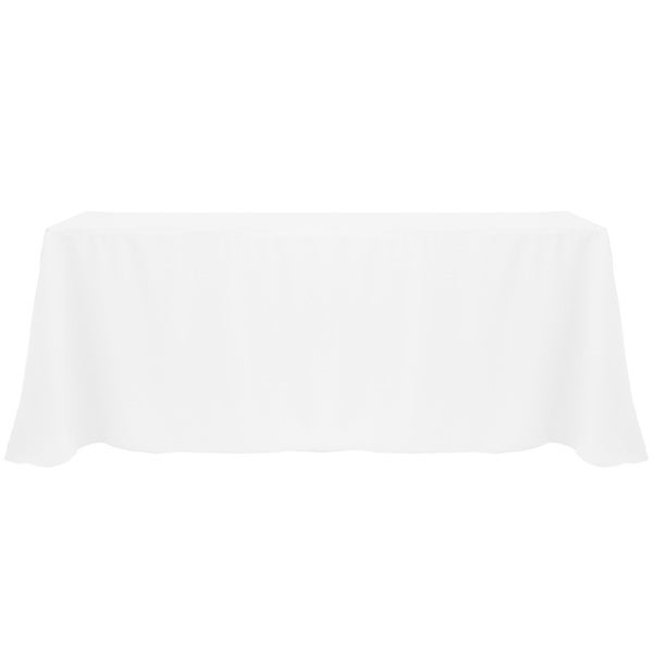 Solid Color 90x132-inch Vibrant Oval Tablecloth