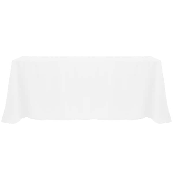 Good Solid Color 90x132 Inch Vibrant Oval Tablecloth
