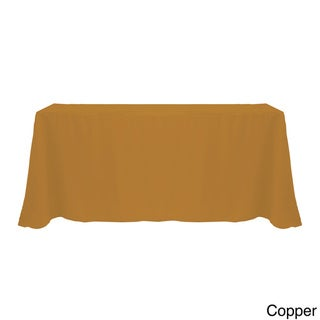 Solid Color 90 x 132-inches Vibrant Tablecloth