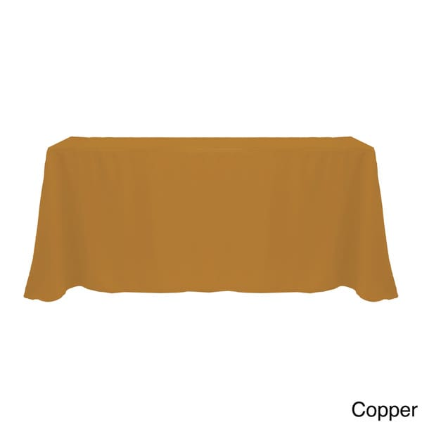 Solid Color 90x132 Inch Vibrant Oval Tablecloth   Free Shipping On Orders  Over $45   Overstock.com   17343847