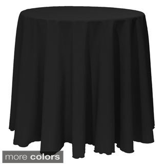 Solid Color 132-inches Round Vibrant Tablecloth (4 options available)