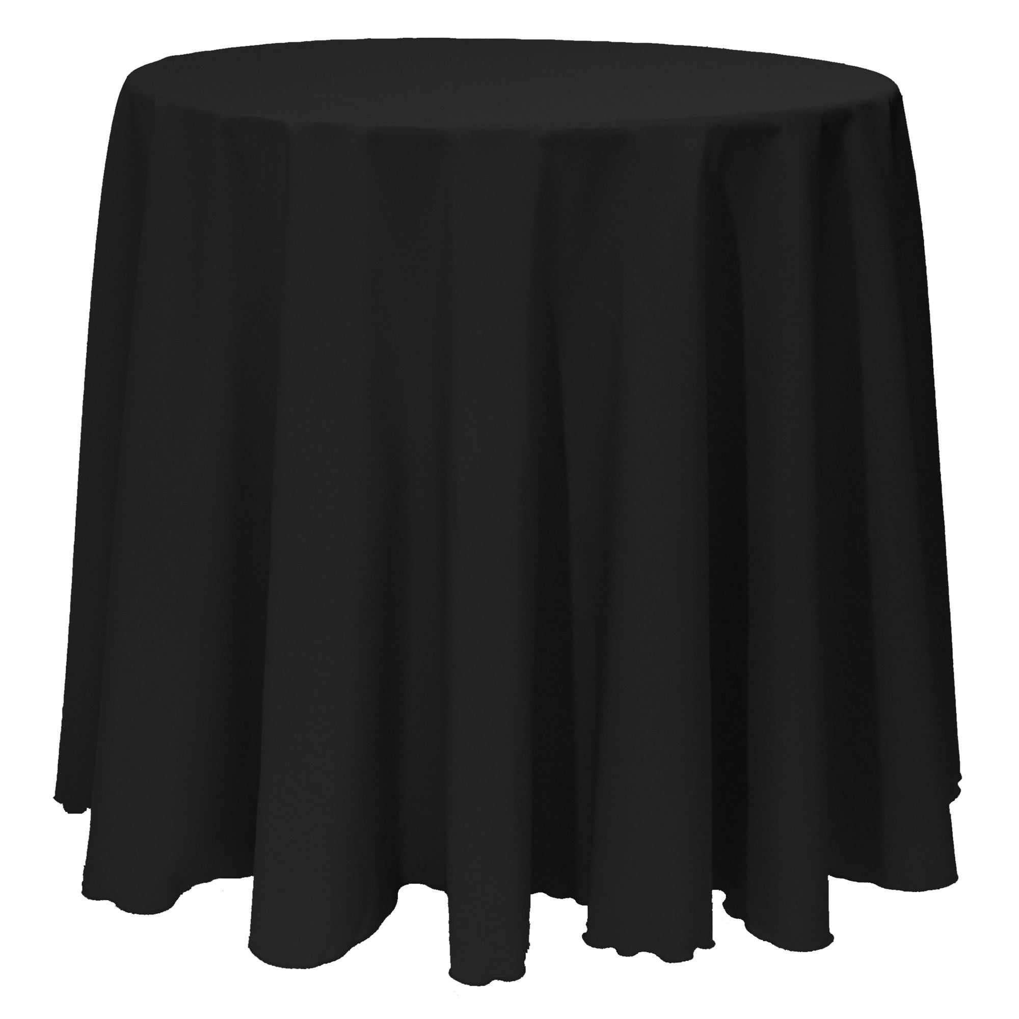 Solid Color 132-inches Round Vibrant Tablecloth (Black)