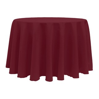 Solid Color 132-inches Round Vibrant Color Tablecloth (More options available)