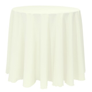 Solid Color 132-inches Round Bright Colorful Tablecloth