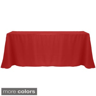 Solid Color 90 x 132-inches Vibrant Color Tablecloth