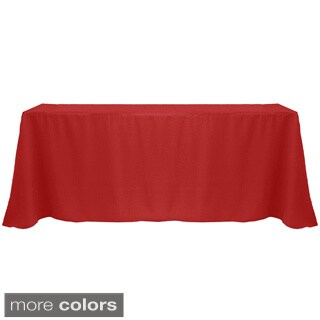 Solid Color 90 x 132-inches Vibrant Color Tablecloth - 90 x 132 (3 options available)