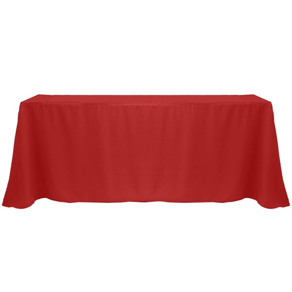 Solid Color 90 X 132 Inches Vibrant Color Tablecloth   90 X 132