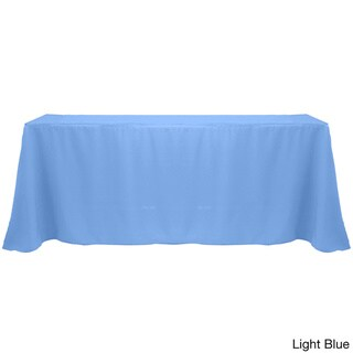Solid Color 90 x 132-inches Colorful Tablecloth