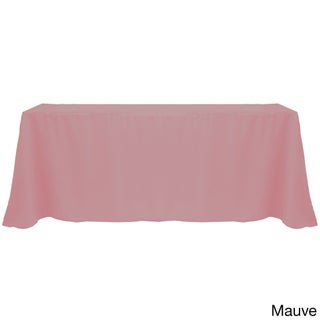 Solid Color 90 x 156-inches Vibrant Tablecloth