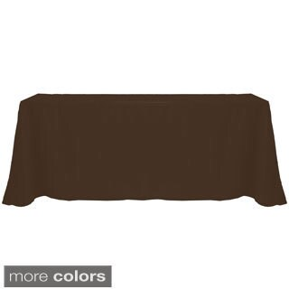 Solid Color 90 x 156-inches Colorful Tablecloth