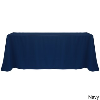 Solid Color 90 x 156-inches Colorful Tablecloth (Option: NAVY)