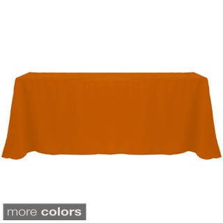 Solid Color 90 x 156-inches Bright Colorful Tablecloth