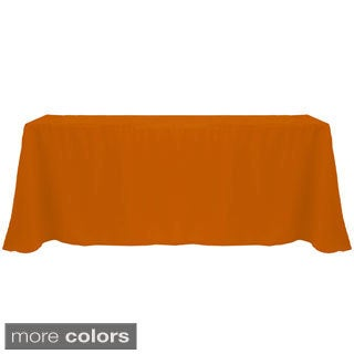 Solid Color 90 x 156-inches Bright Colorful Tablecloth (3 options available)
