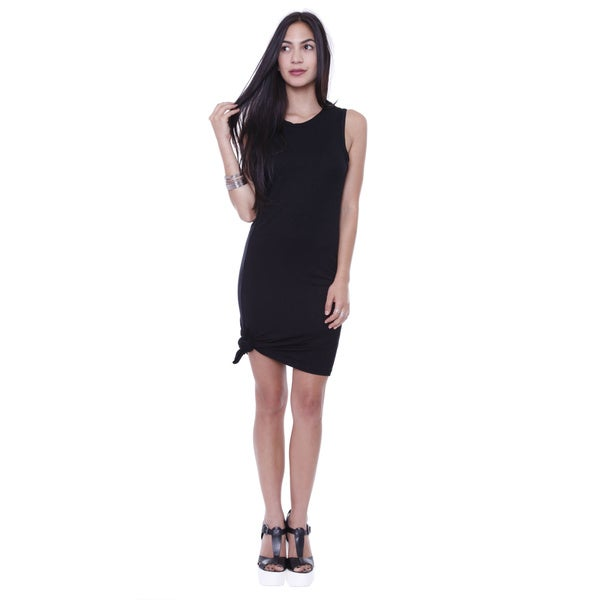 Junior 39 s sporty black t shirt dress free shipping on for Sporty t shirt dress