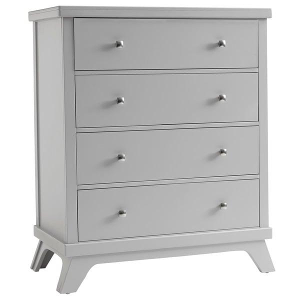 Sealy Bella 4-drawer Mid-century Grey Dresser
