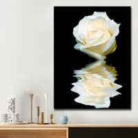 Ready2HangArt 'Abstract Rose Blanc' Canvas Art - Black/White