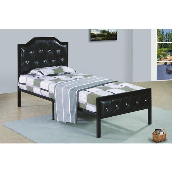 Shop Metal Frame Black Upholstered Bed