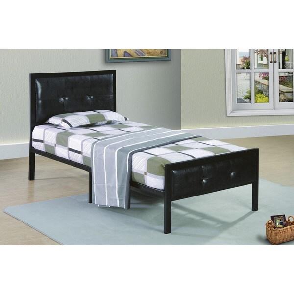 Shop Metal Frame Black Low Profile Upholstered Bed Free