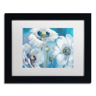 Lisa Audit 'Blue Dance I' Matted Framed Art
