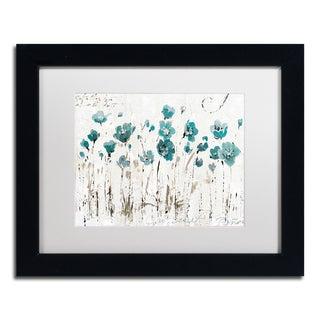 Lisa Audit 'Abstract Balance VI Blue' Matted Framed Art