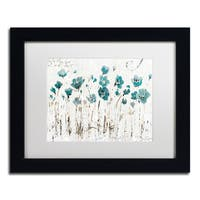 Lisa Audit 'Abstract Balance VI Blue' Matted Framed Art - Blue