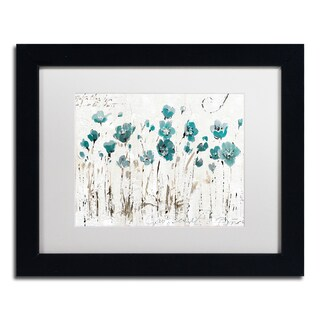 Lisa Audit 'Abstract Balance VI Blue' Matted Framed Art - Blue