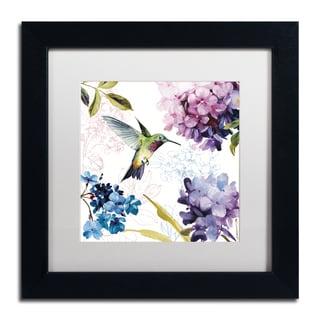 Lisa Audit 'Spring Nectar Square II' Matted Framed Art