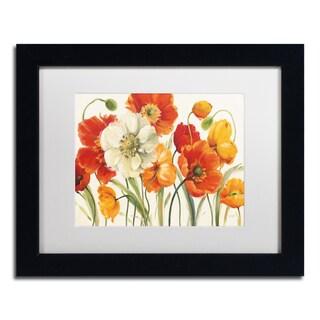 Lisa Audit 'Poppies Melody I' Matted Framed Art