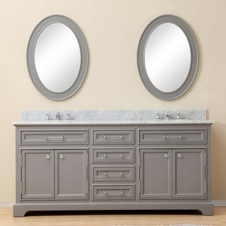 Water Creation Derby 72 Inch Cashmere Grey Double Sink Bathroom Vanity
