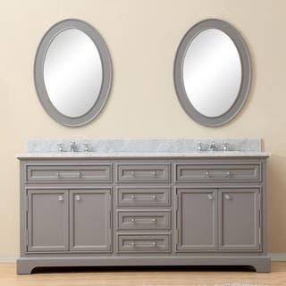 water creation derby 72 inch cashmere grey double sink bathroom vanity - Bathroom Double Vanity