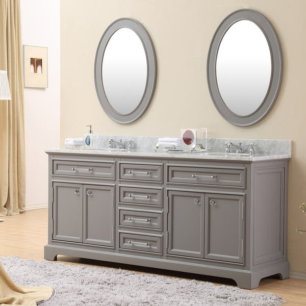 Pleasant Shop Water Creation Derby 72 Inch Cashmere Grey Double Sink Home Interior And Landscaping Ologienasavecom