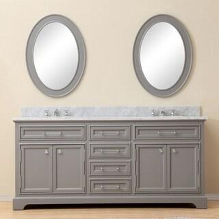 Link to Water Creation Derby 72-inch Cashmere Grey Double Sink Bathroom Vanity Similar Items in Bathroom Vanities