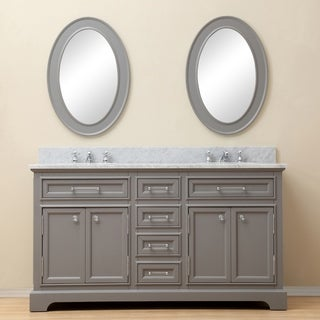 Water Creation Derby 60 Inch Cashmere Grey Double Sink Bathroom Vanity