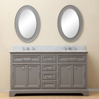 Water Creation Derby 60-inch Cashmere Grey Double Sink Bathroom Vanity