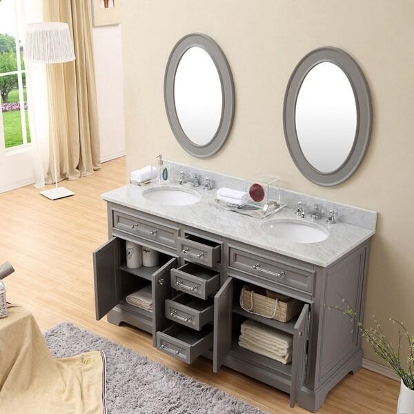 gray double sink bathroom vanity. Water Creation Derby 60 inch Cashmere Grey Double Sink Bathroom Vanity  Free Shipping Today Overstock com 17344220