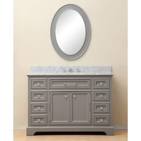 Water Creation Derby 48-inch Cashmere Grey Single Sink Bathroom Vanity