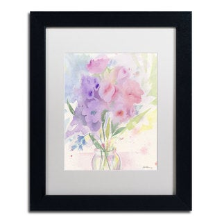 Sheila Golden 'Pink and Purple Expression' Matted Framed Art