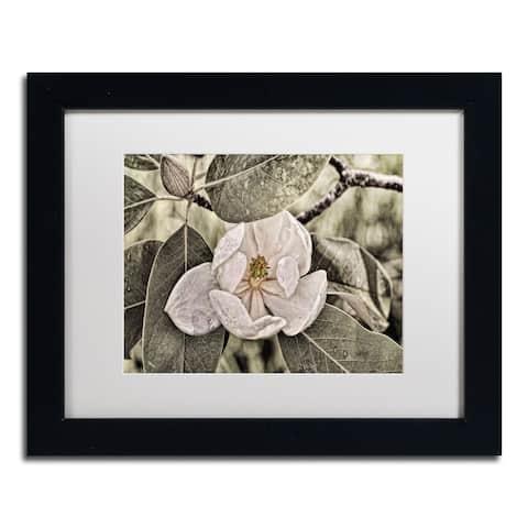 Lois Bryan 'White Magnolia' Matted Framed Art