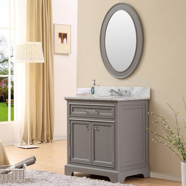Water creation derby 30 inch cashmere grey single sink for Gray 30 inch bathroom vanity