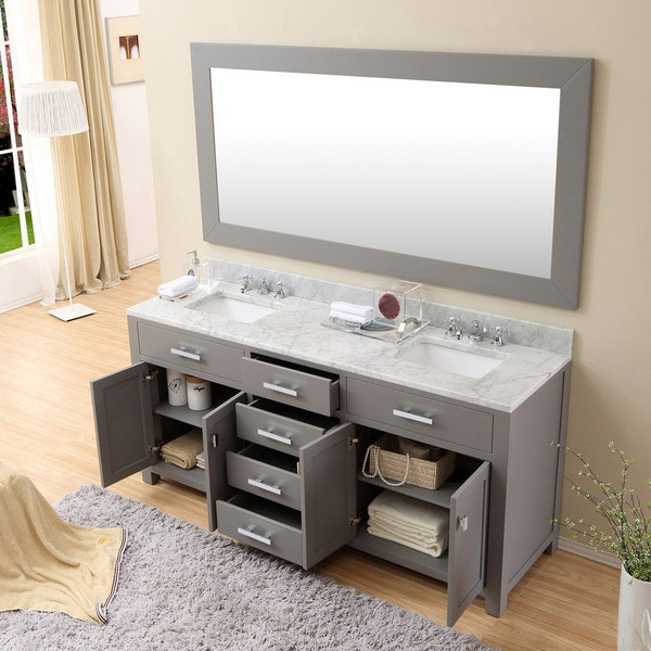 water creation madison 72inch cashmere grey double sink bathroom vanity free shipping today